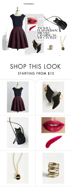 """Modcloth"" by vanesamuftic ❤ liked on Polyvore featuring Closet London, Seychelles and TheBalm"