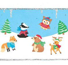 Autocollants de la Forêt Hivernale en Mousse avec lesquels les Enfants pourront Décorer leurs cartes de Vœux et faire du Collage (Lot de 120): Amazon.fr: Jeux et Jouets