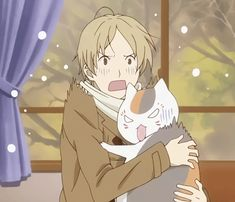 Nyanko Sensei and natsume Cute Anime Boy, Anime Love, Anime Guys, Manga Anime, Anime Art, Natsume Takashi, Beautiful Dark Art, Natsume Yuujinchou, Anime Screenshots