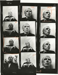 American artist Andy Warhol was nearly as famous for his witticisms as he was his paintings. In honor of the controversial pop art icon, a roundup of our favorite Warhol quotations. Andy Warhol Pop Art, Andy Warhol Quotes, Andy Warhol Films, Andy Warhol Portraits, Art Marilyn Monroe, James Rosenquist, Contact Sheet, Polaroid, Environmental Portraits