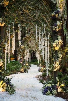 An enchanted and whimsical wedding ceremony.