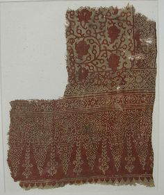 Fragment Date: 13th–14th century Geography: India Culture: Islamic Medium: Cotton; block-printed and resist-dyed Accession Number: 30.112.32
