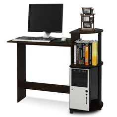 Small Computer Desk Student Dorm Home Office Compact Laptop Study Table Wood #WildonHome #Contemporary