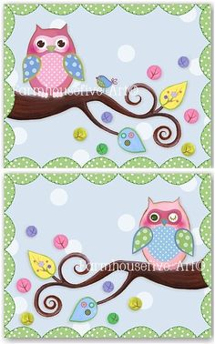 Nursery Owl Print