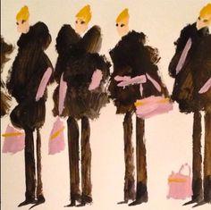 Fashion illustration by Donald Drawbertson