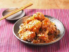 鶏唐揚げ甘酢ねぎソース09