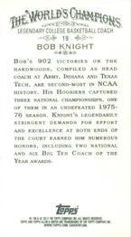2012 Topps Allen & Ginter - Mini #19 Bob Knight Back