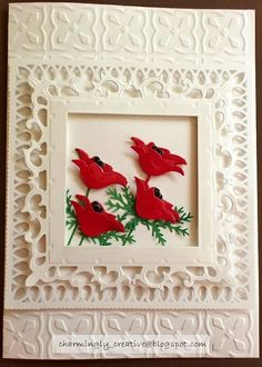 Copy of Poppy Card_w by Charminglycreative, via Flickr  cool way to use prim poppy