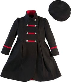 Rothschild Girls' Wool Dress Coat with Matching Beret (Size 2T-6X ...