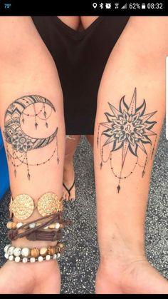 sun and moon tattoo Forarm Tattoos, Sun Tattoos, Couple Tattoos, Body Art Tattoos, Small Tattoos, Sleeve Tattoos, Tatoos, Sister Tattoos, Friend Tattoos