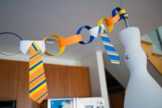 Kid's Activity: DIY Tie Napkin Rings and Tie Garland Bunting Father's Day Decorations