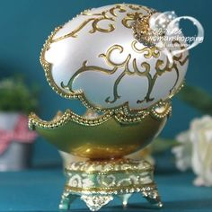 White gold etched  Faberge style Russian carved egg music box free shipping e15 on AtomicMall.com http://atomicmall.com/view.php?id=2287306_source=Twitter_medium=ProductToools