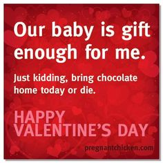 Pregnant and looking for the perfect love note to give to your partner? Click through for 14 hilarious Valentines!
