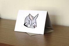 Bilby blank greeting card by Yoliprints on Etsy