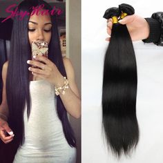 6a malaysian straight virgin hair 4pcs lot 100g/3.5oz sky hair unprocessed human hair weaves wholesale price malaysian straight