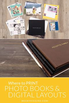User friendly, EASY way to print photo books and digital photo layouts. Where To Print Photos, Digital Project Life, Becky Higgins, Photo Books, Photo Layouts, Photo Displays, Printing Services, Digital Prints, Easy