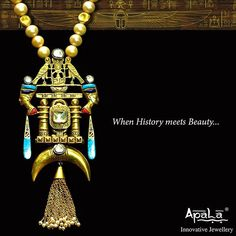 Inspired from the Pharaohs five thousand years ago, the Egyptian Collection by Apala Jewellery is a perfect blend of history & beauty.
