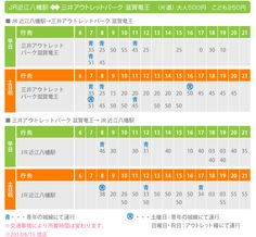 JR近江八幡駅⇔三井アウトレットパーク 滋賀竜王 バス時刻表