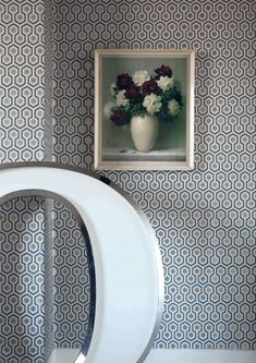 Hicks Hexagon Wallpaper by Cole & Son - Contemporary Restyled