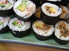 Sushi (cooked, of course)