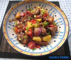 Carole's Chatter: Sweet and sour pork – using fresh pineapple Pork Recipes, Asian Recipes, Ethnic Recipes, Pineapple Pork Chops, Chinese Cooking Wine, Chinese Food, Pineapple Recipes, White Meat, Pork Dishes