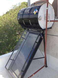 Como fabricar un calentador solar con materiales reciclados Renewable Energy, Solar Energy, Solar Power, Solar Water Heater, Water Heating, Diy Solar, Solar Panels, Woodworking Plans, Design