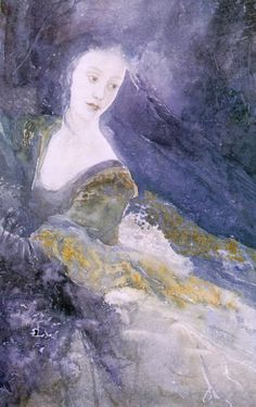 Alan Lee - Luthien Tinuviel reminds me of the little mermaid when she turns into seafoam