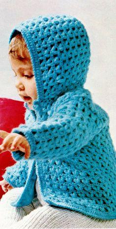 a39cec06bd3618 Baby s Hooded Jacket Vintage PDF Crochet Pattern by MomentsInTwine on Etsy