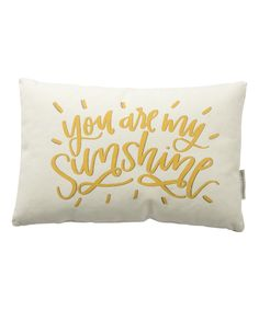 White & Yellow 'You are My Sunshine' Throw Pillow
