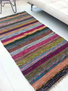 lovely carpets made of recycled saris!
