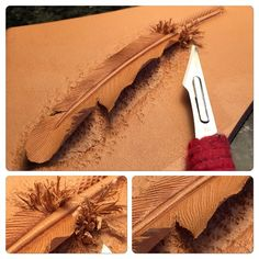 Cut a feather out of leather?! This is AMAZING! I'm getting so many ideas!!