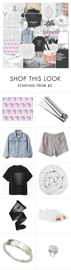 """""""if i'm lost, then how can i find myself?"""" by kristen-gregory-sexy-sports-babe ❤ liked on Polyvore featuring Chanel, Gap, Clu, Alexander Wang, The Fine Bedding Company, Emporio Armani and adidas Originals"""