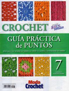 crochet stitch No 7 - book designs) Crochet Motif, Knit Crochet, Crochet Patterns, Moda Crochet, Knitting Magazine, Crochet Magazine, Crotchet Stitches, String Art Tutorials, Crochet Carpet