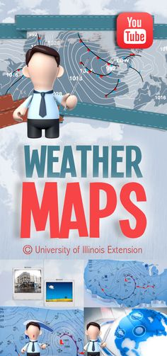 """Understand """"WEATHER MAPS"""" with this short, educational YouTube video from University of Illinois Extension #lesson"""