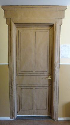 Entering Narnia-- classroom door to look like wardrobe door while reading The Lion, the Witch, and the Wardrobe.