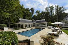Wonderful Pool House Design in Exclusive Home Design : Modern Pool House Designs Green Area House Excellent Home Design