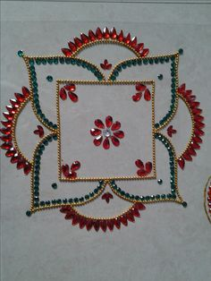 akundan rangoli on ohp sheets