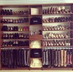 Organized shoe racks