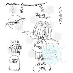 Batty For You | Halloween Digital Stamps By Tiddly Inks
