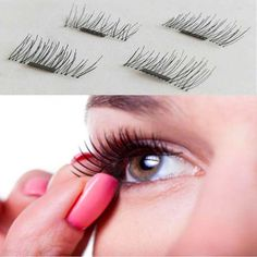 1 Pair/ 4Pcs 3D Magnetic False Eyelashes Natural Soft Makeup Beauty Tools Accessories SSwell #Affiliate