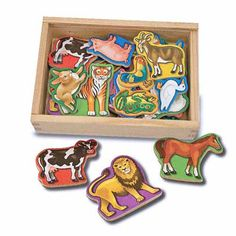 Melissa and Doug animal magnets... We have the Dino ones and I think they will be a hit!