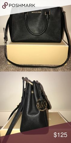 Black Michael Kors Large Leather Satchel Only used for a short period of time! It's in great condition and is super clean inside and out! Comes with box and protective bag it originally came in! Michael Kors Bags Shoulder Bags