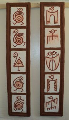 Ideas for custom ceramic and stone - inspirational designs Arte Tribal, Tribal Art, Indian Folk Art, Africa Art, Mural Wall Art, Indigenous Art, Gourd Art, Aboriginal Art, Native Art
