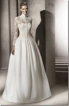 Pronovias wedding dresses with long sleeves