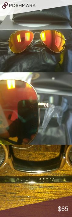 Real Ray Bans *new with case  * Made in Italy *100% authentic  *Perfect for spring & summer & Christmas *100% UV protection  *58mm in size and 62mm in size * Model #3025 model#3026 *Worth $130.00 in stores Ray-Ban Accessories Sunglasses