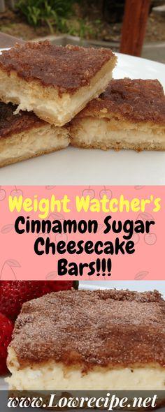 Weight Watcher's Cinnamon Sugar Cheesecake Bars!!! - Low Recipe