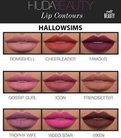 BEAUTY LIP CONTOURS at Hallow Sims via Sims 4 Updates