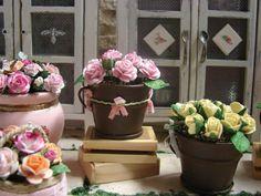 Кукольная Миниатюра потертый шик коттедже оформленном в стиле фермерского дома круглые ржавые ведра с бумажными розами