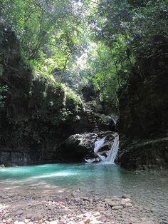One of the 27 Waterfalls of Damajagua, Samana Peninsula, Dominican Republic