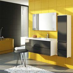 Et fantastisk møbel for deg som liker oppbevaringsplass + moderne og tidløst design i ett. http://handlebad.no/baderomsinnredning/baderomsinnredning/brilliant-m-antrasittgra-hoyglans-front-4886